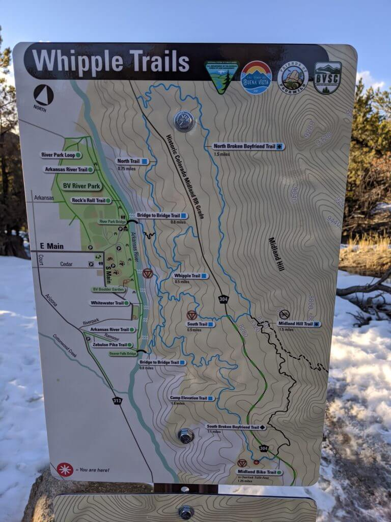 Whipple Trails Map Buena Vista